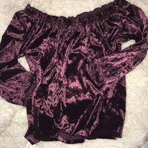 Crushed velvet top from Gap